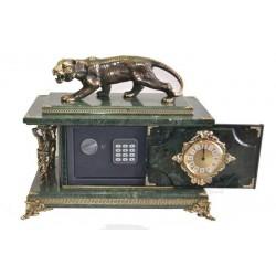 Настольные часы сейф с фигуркой тигра